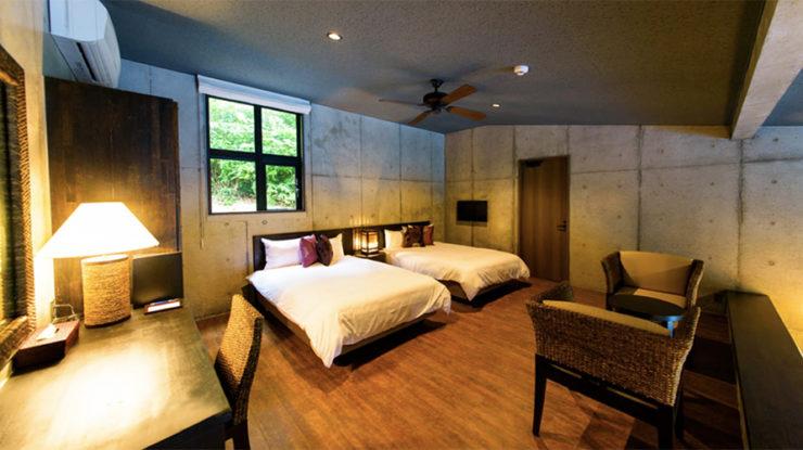 客室は135〜175㎡の広さがあり、全室にミニカウンターや洗濯機が備え付けられています