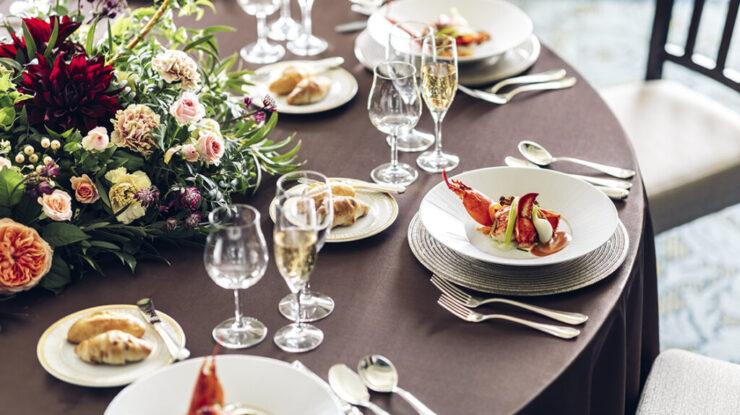 料理は伝統的なフランス料理から、和洋・洋中のフュージョン料理などお好みに合わせて選択できます