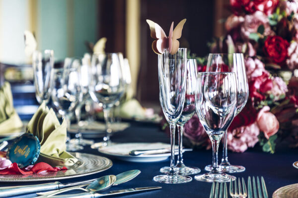 スイートルーム結婚式テーブルコーディネート